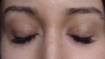 After eyelash extensions (no mascara)